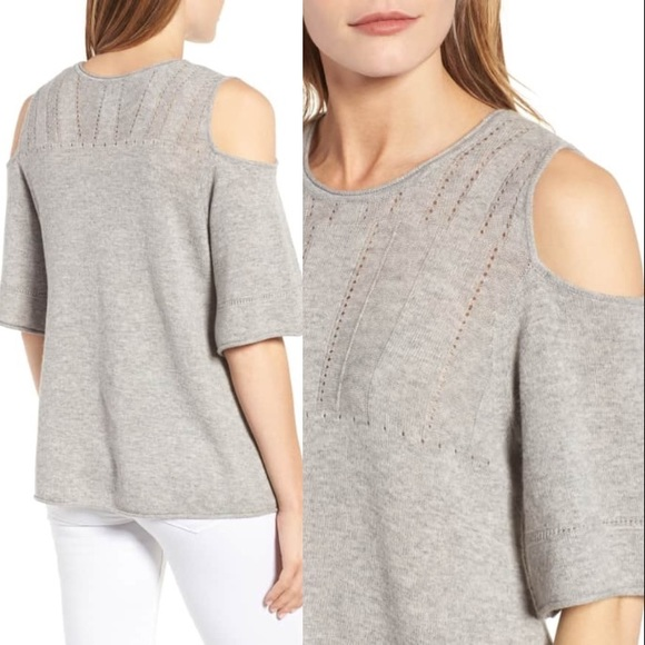 aaf1760386414 NWT Velvet STITCHFIX Cold Shoulder Picot Sweater